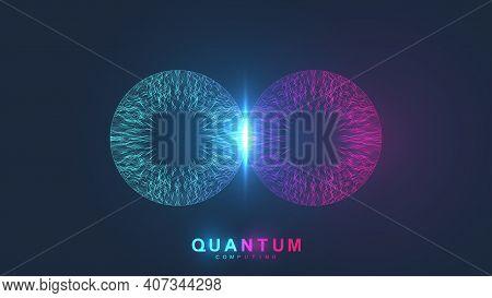Quantum Computing Systems. Quantum Physics. Deep Learning Artificial Intelligence. Big Data Algorith