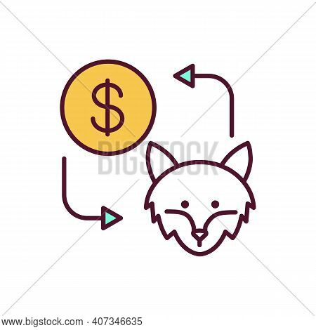 Animal Trafficking Rgb Color Icon. Selling Pets. Capturing Mammals To Get Money. Rare Animal For Smu