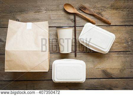 Service Food Order Online Delivery Food Box Take Away Boxes, Disposable Eco Friendly Packaging Conta