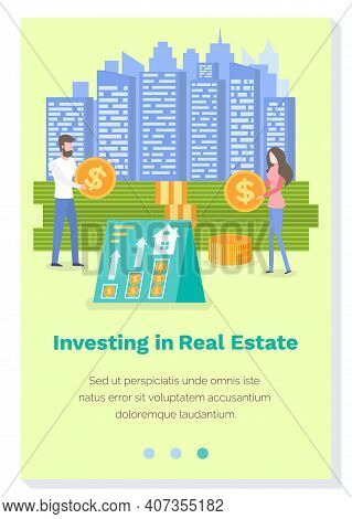 Investing In A Real Estate Landing Page Template. Business Website Interface Layout. Stock Market Tr