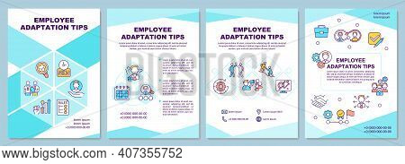 Young Workers Labor Rights Brochure Template. Working Hours, Breaks. Flyer, Booklet, Leaflet Print,