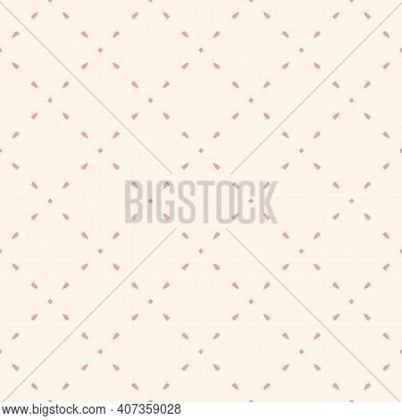 Simple Minimalist Vector Seamless Pattern. Subtle Minimal Geometric Texture. Abstract Background Wit