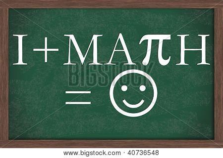 I Love Math Equation Chalkboard