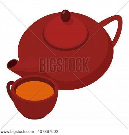 Hibiscus Tea Icon. Isometric Illustration Of Hibiscus Tea Vector Icon For Web