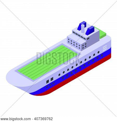 Ferry Carrier Icon. Isometric Of Ferry Carrier Vector Icon For Web Design Isolated On White Backgrou
