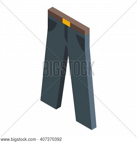 School Uniform Pants Icon. Isometric Of School Uniform Pants Vector Icon For Web Design Isolated On