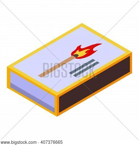Fire Match Icon. Isometric Of Fire Match Vector Icon For Web Design Isolated On White Background
