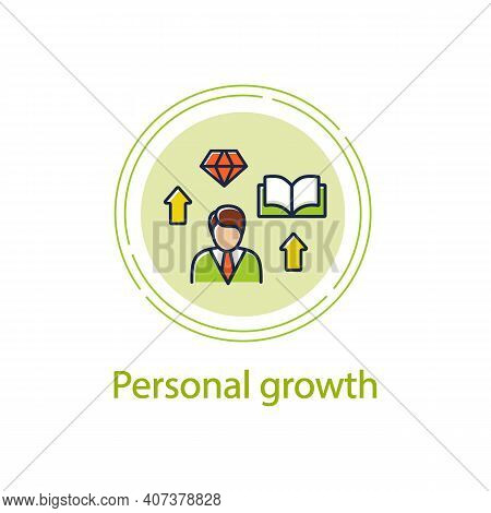 Personal Growth Concept Line Icon. Route To Success. Self Improvement And Self Realization.business
