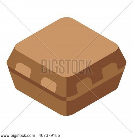 Carton Package Icon. Isometric Of Carton Package Vector Icon For Web Design Isolated On White Backgr