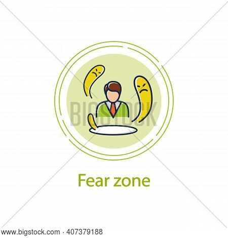 Fear Zone Concept Line Icon. Route To Success. Self Improvement And Self Realization. Business And C