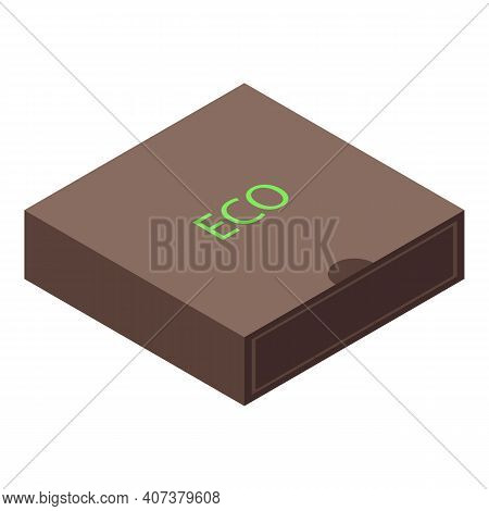 Eco Material Package Icon. Isometric Of Eco Material Package Vector Icon For Web Design Isolated On