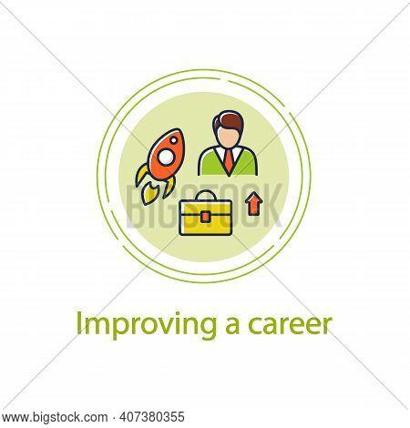 Career Improvement Concept Line Icon. Personal Growth Concept. Self Improvement And Self Realization
