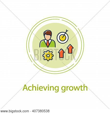 Achieving Growth Concept Line Icon. Personal Growth Concept. Achieving Goals. Certification Training