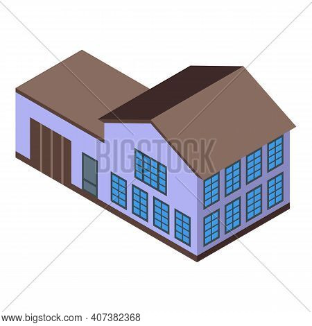 Urban House Icon. Isometric Of Urban House Vector Icon For Web Design Isolated On White Background