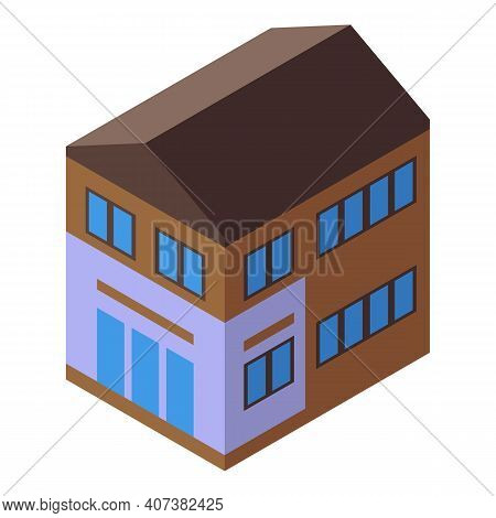 Urban Cottage Icon. Isometric Of Urban Cottage Vector Icon For Web Design Isolated On White Backgrou
