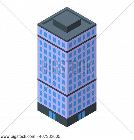 Business City Center Icon. Isometric Of Business City Center Vector Icon For Web Design Isolated On