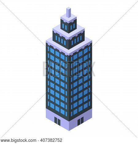 Urban Skyscraper Icon. Isometric Of Urban Skyscraper Vector Icon For Web Design Isolated On White Ba