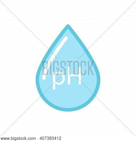 Ph Simple Icon, Neutral Balance Ph. Flat Vector Illustration.