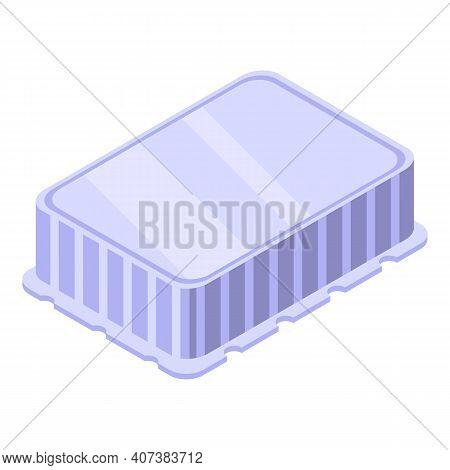 Free Plastic Container Icon. Isometric Of Free Plastic Container Vector Icon For Web Design Isolated
