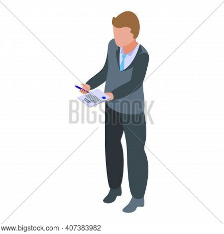 Agent Man Icon. Isometric Of Agent Man Vector Icon For Web Design Isolated On White Background