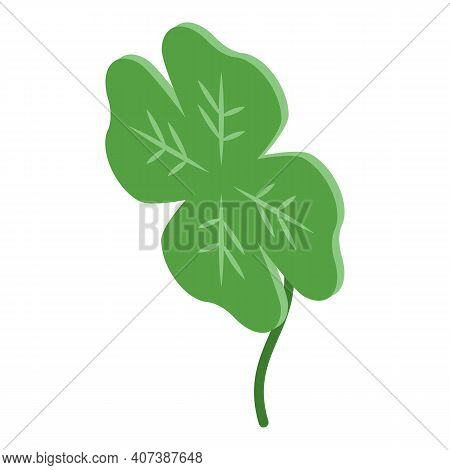 Spring Clover Icon. Isometric Of Spring Clover Vector Icon For Web Design Isolated On White Backgrou