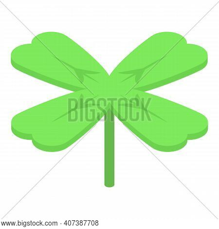 Garden Clover Icon. Isometric Of Garden Clover Vector Icon For Web Design Isolated On White Backgrou