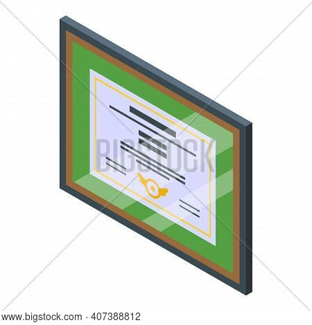 Academic Degree Icon. Isometric Of Academic Degree Vector Icon For Web Design Isolated On White Back