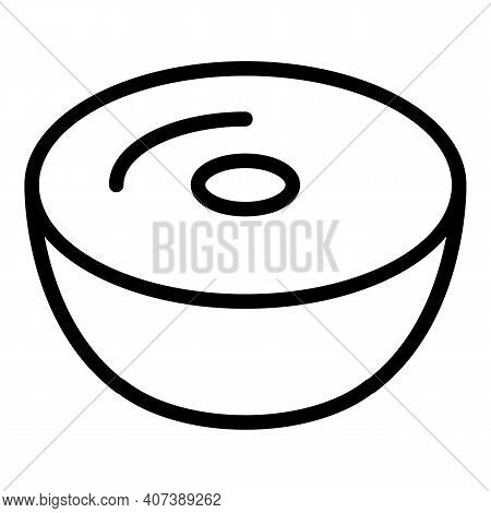 Latte Capsule Icon. Outline Latte Capsule Vector Icon For Web Design Isolated On White Background
