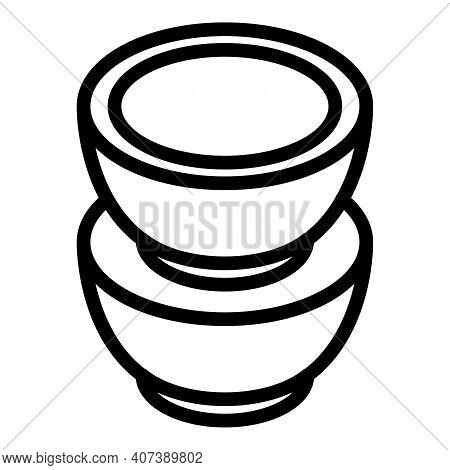 Italian Coffee Pods Icon. Outline Italian Coffee Pods Vector Icon For Web Design Isolated On White B