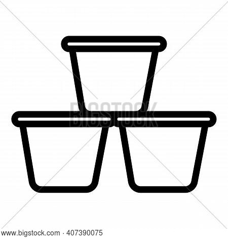 Roasted Coffee Pods Icon. Outline Roasted Coffee Pods Vector Icon For Web Design Isolated On White B