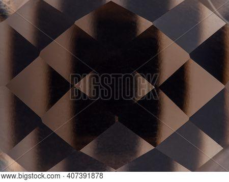 Brown Topaz, Semi-precious Stone With Cut, Macro