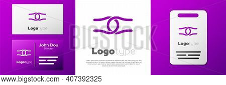Logotype Rope Tied In A Knot Icon Isolated On White Background. Logo Design Template Element. Vector