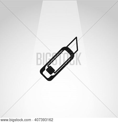 Cutter Knife Vector Icon, Cutter Simple Isolated Icon
