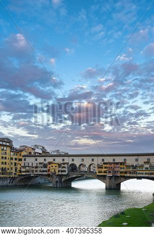 Ponte Vecchio In Florence With Text Space