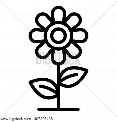 Flower Allergy Reaction Icon. Outline Flower Allergy Reaction Vector Icon For Web Design Isolated On