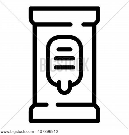 Wet Pack Handkerchief Icon. Outline Wet Pack Handkerchief Vector Icon For Web Design Isolated On Whi