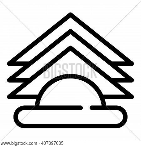Folded Paper Napkins Icon. Outline Folded Paper Napkins Vector Icon For Web Design Isolated On White