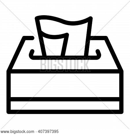 Tissue Box Icon. Outline Tissue Box Vector Icon For Web Design Isolated On White Background