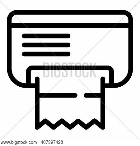 Paper Tissue Box Icon. Outline Paper Tissue Box Vector Icon For Web Design Isolated On White Backgro