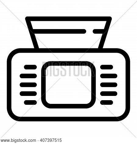 Disposable Napkin Box Icon. Outline Disposable Napkin Box Vector Icon For Web Design Isolated On Whi
