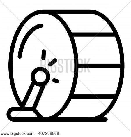 Rhythm Drum Icon. Outline Rhythm Drum Vector Icon For Web Design Isolated On White Background