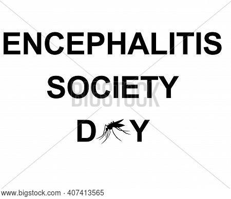 Encephalitis Society Day Symbol, Sign Or Logo. Padlock Design. White Background. Vector Illustration