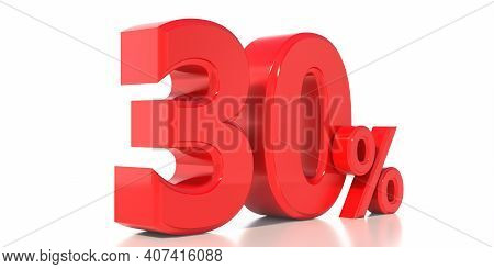 30% Off Discount Promotion, Sale 30%. Christmas, Valentines Day Special Offer Concept. Thirty Percen