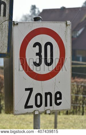 30 Kilometers Per Hour Speed Limit Sign