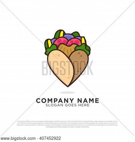Kebab Lovers Logo Design Inspiration, Turkish And Arabian Fast Food Logo Design Template
