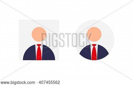 Anonym Businessman Avatar Profile Icon Vector In Flat Design