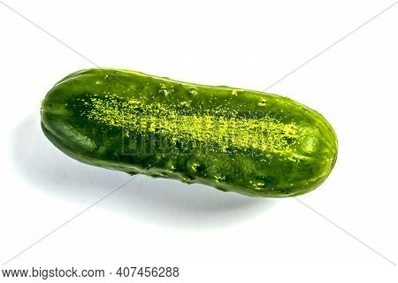 Stock Foto Closeup Of Cucumber Isolated On White Background