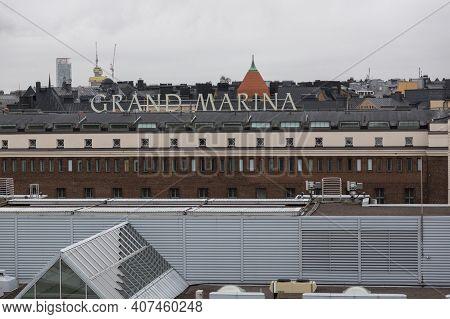 Helsinki, Finland - January 17, 2020: View Of The Rooftops Of Helsinki