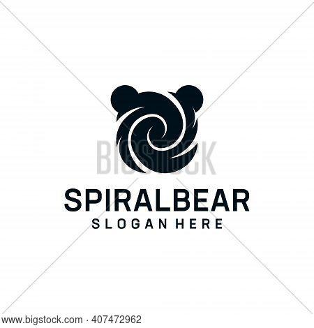 Bear Spiral Logo Design Inspiration Element Concept