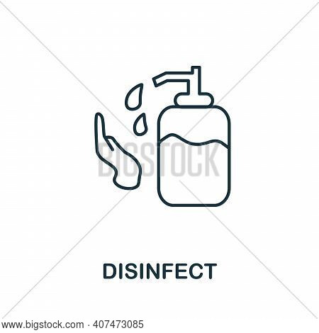 Disinfect Icon. Simple Illustration From Coronavirus Collection. Creative Disinfect Icon For Web Des